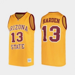 Men Arizona State Sun Devils James Harden Alumni Gold College Baketball Jersey