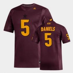 Men Arizona State Sun Devils Jayden Daniels Replica Maroon Football Jersey