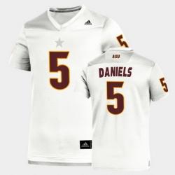 Men Arizona State Sun Devils Jayden Daniels Replica White Football Jersey