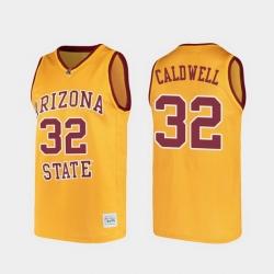 Men Arizona State Sun Devils Joe Caldwell Alumni Gold College Basketball Jersey