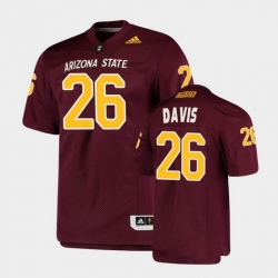 Men Arizona State Sun Devils Keith Davis College Football Maroon Premier Jersey
