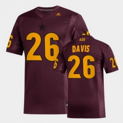 Men Arizona State Sun Devils Keith Davis Replica Maroon Football Jersey