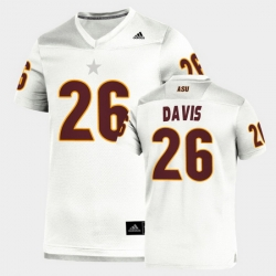 Men Arizona State Sun Devils Keith Davis Replica White Football Jersey