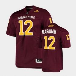 Men Arizona State Sun Devils Kejuan Markham College Football Maroon Premier Jersey