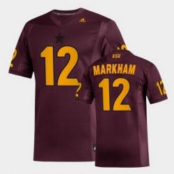 Men Arizona State Sun Devils Kejuan Markham Replica Maroon Football Jersey