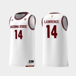Men Arizona State Sun Devils Kimani Lawrence White Replica College Basketball Jersey