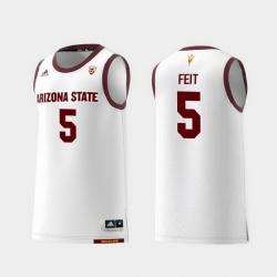 Men Arizona State Sun Devils Kyle Feit White Replica College Basketball Jersey