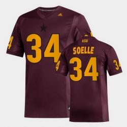 Men Arizona State Sun Devils Kyle Soelle Replica Maroon Football Jersey