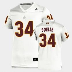 Men Arizona State Sun Devils Kyle Soelle Replica White Football Jersey
