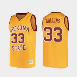 Men Arizona State Sun Devils Lionel Hollins Alumni Gold College Basketball Jersey