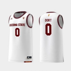 Men Arizona State Sun Devils Luguentz Dort White Replica College Basketball Jersey