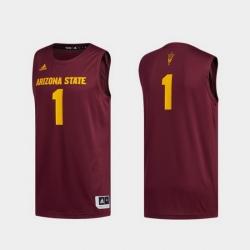 Men Arizona State Sun Devils Maroon Swingman Basketball Jersey