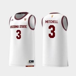 Men Arizona State Sun Devils Mickey Mitchell White Replica College Basketball Jersey