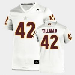 Men Arizona State Sun Devils Pat Tillman Replica White Football Jersey