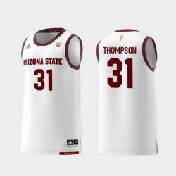Men Arizona State Sun Devils Trevor Thompson White Replica College Basketball Jersey