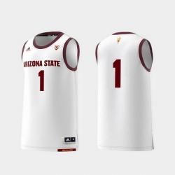 Men Arizona State Sun Devils White Basketball Swingman Adidas Replica Jersey