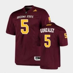 Men Arizona State Sun Devils Zane Gonzalez College Football Maroon Premier Jersey