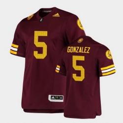 Men Arizona State Sun Devils Zane Gonzalez Premier Maroon Football Jersey