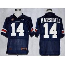 Auburn Tigers 14 Nick Marshall Blue College Football NCAA Jerseys