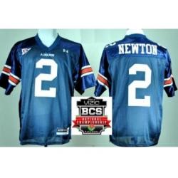 Auburn Tigers 2 Cam Newton Navy Blue College Football NCAA Jerseys 2014 Vizio BCS National Championship Game Patch