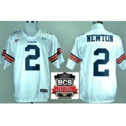 Auburn Tigers 2 Cam Newton White College Football NCAA Jerseys 2014 Vizio BCS National Championship Game Patch