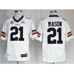 Auburn Tigers 21 Tre Mason White NCAA Football Jerseys