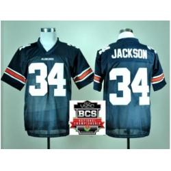 Auburn Tigers 34 Bo Jackson Navy Blue Throwback College Football NCAA Jerseys 2014 Vizio BCS National Championship Game Patch