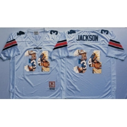 Auburn Tigers 34 Bo Jackson White Portrait Number College Jersey