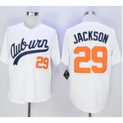 Tigers #29 Bo Jackson White Throwback Stitched NCAA Jersey