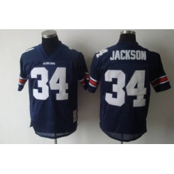 Tigers #34 Bo Jackson Blue Embroidered NCAA Jersey