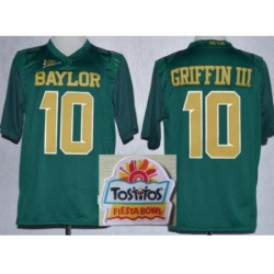 Baylor Bears 10 Rebort Griffin Green Gold Number College Football NCAA Jerseys 2014 Fiesta Bowl Game Patch
