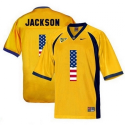 California Golden Bears 1 DeSean Jackson Gold USA Flag College Football Jersey