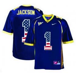 California Golden Bears 1 DeSean Jackson Navy USA Flag College Football Jersey