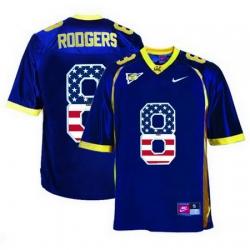 California Golden Bears 8 Aaron Rodgers Navy USA Flag College Football Jersey