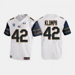 California Golden Bears Dylan Klumph College Football White Jersey