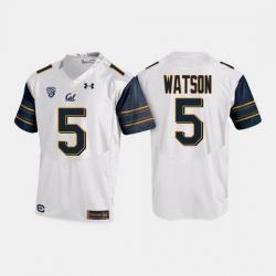 California Golden Bears Tre Watson College Football White Jersey