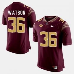 Florida State Seminoles Dekoda Watson College Football Garnet Jersey