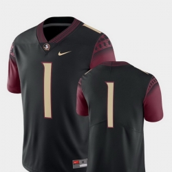 Men Florida State Seminoles 1 Black College Football 2018 Game Jersey