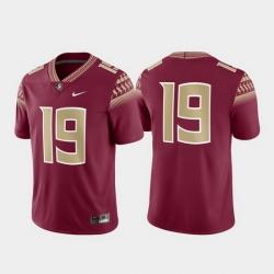 Men Florida State Seminoles 19 Garnet Game Jersey