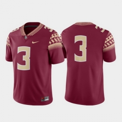 Men Florida State Seminoles 3 Garnet Game College Football Jersey