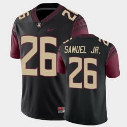 Men Florida State Seminoles Asante Samuel Jr. College Football Black Alternate Game Jersey