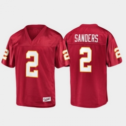 Men Florida State Seminoles Deion Sanders 2 Garnet Champions Collection Jersey