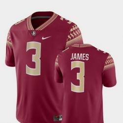 Men Florida State Seminoles Derwin James 3 Garnet Game College Football Jersey