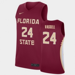 Men Florida State Seminoles Devin Vassell College Basketball Garnet 2020 Nba Draft Jersey