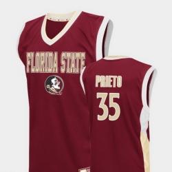 Men Florida State Seminoles Harrison Prieto Red Fadeaway College Basketball Jersey