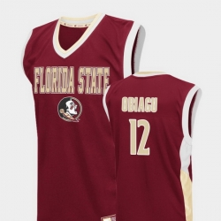 Men Florida State Seminoles Ike Obiagu Red Fadeaway College Basketball Jersey