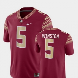 Men Florida State Seminoles Jameis Winston 5 Garnet Game College Football Jersey