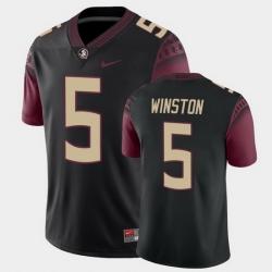 Men Florida State Seminoles Jameis Winston College Football Black Alternate Game Jersey