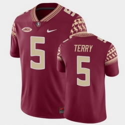 Men Florida State Seminoles Tamorrion Terry Game Garnet College Football Jersey