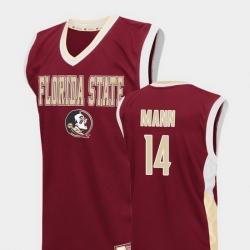 Men Florida State Seminoles Terance Mann Red Fadeaway College Basketball Jersey